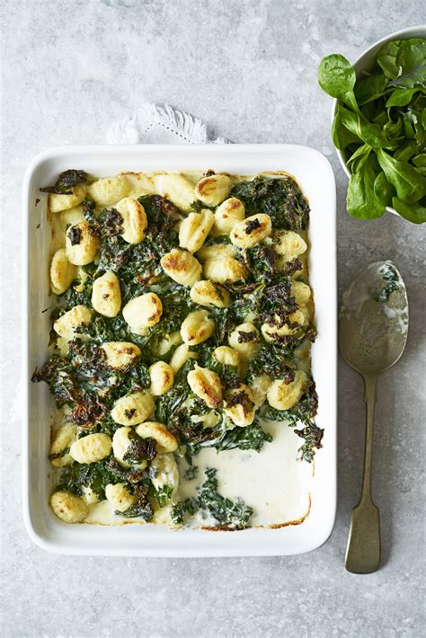 Vegetarian Gnocchi Recipe With Kale and Blue Cheese