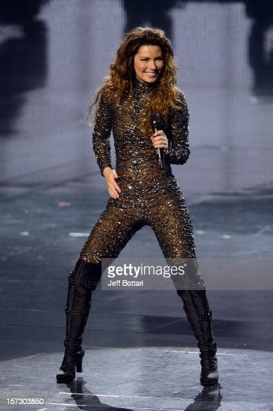 Singer Shania Twain performs during the debut of her