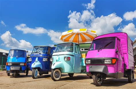 Piaggio Ape 3 wheeler van Sales and Hire from the UK's